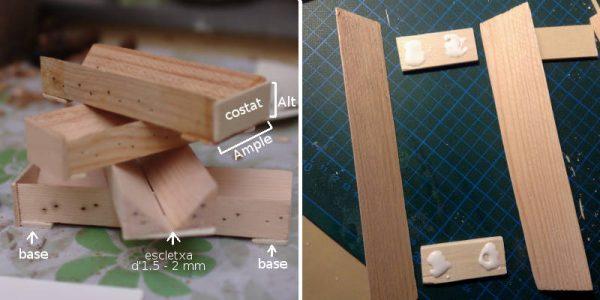Diagrama de les parts i vista de com posem la cola